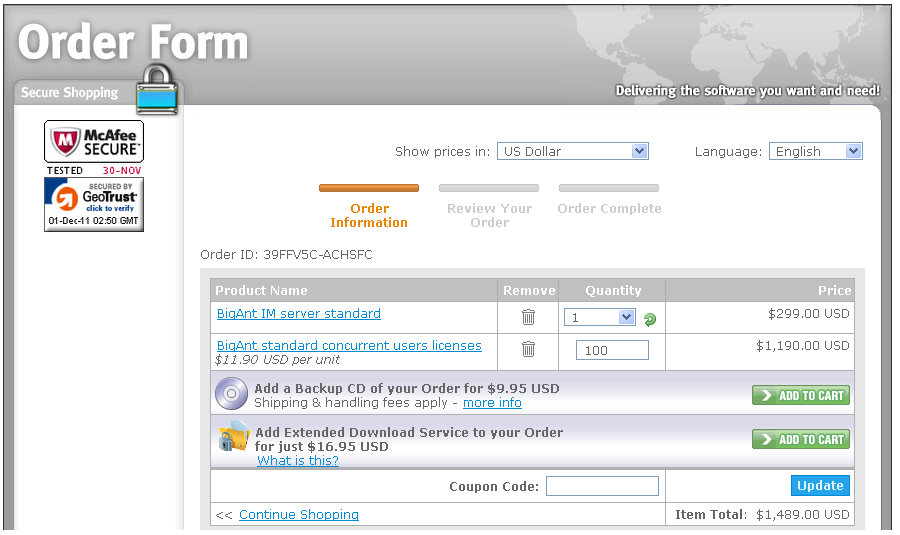 How to place your order by purchase order – Standard Purchase Order Form